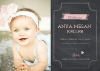 Pink Chalked Baby Banner