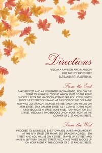 Elegant Autumn Directions