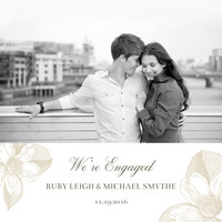 Light Floral Engagement
