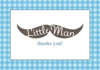 Little Man Moustache Thank You