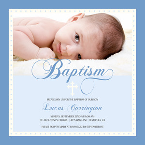 Baptism Script Baptism & Christening Invitation by Mixbook