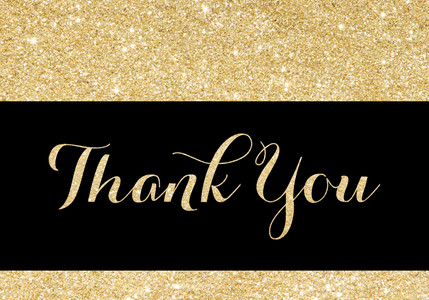 Thank You Cards - Gold Glitter by Mixbook
