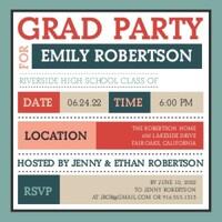 Color Block Grad Party