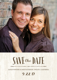 Rustic Elegance Save the Date