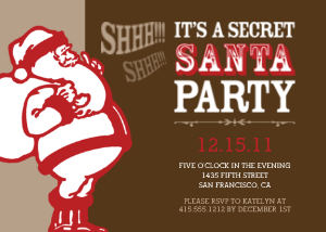 Holiday Party Invitations - Secret Santa Party by Mixbook