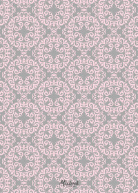 Pink and Grey Damask Announcement