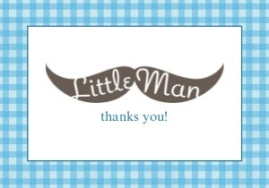 Little Man Moustache Thank You