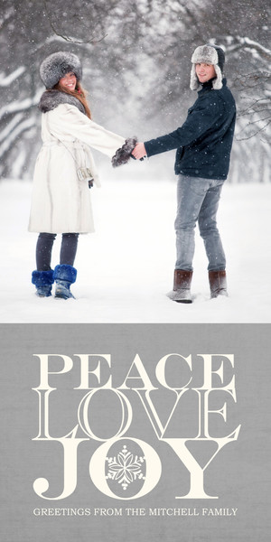 Peace Love Joy on Grey