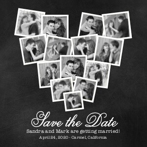 Save the Date Cards - Save the Date Heart Collage by Mixbook