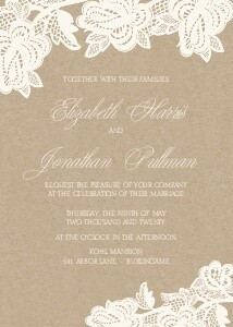 Wedding Invitations Rustic Lace