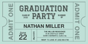 Graduation Ticket
