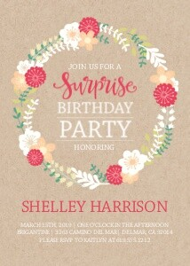 Floral Wreath Birthday