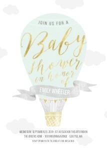 Sweet Air Balloon Baby Shower