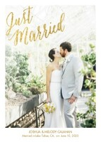 Just Married Gold Overlay