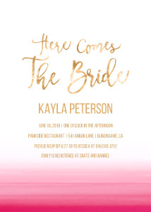 Pink Ombre Bridal Shower