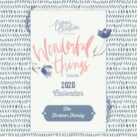 Wonderful Things Calendar by Bonnie Christine
