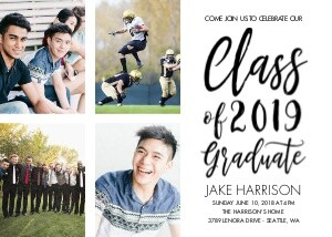 Brush Script Grad Invite