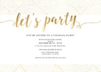 Gold White Party Invitation