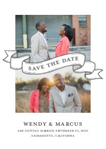 Save the Date Banner Collage