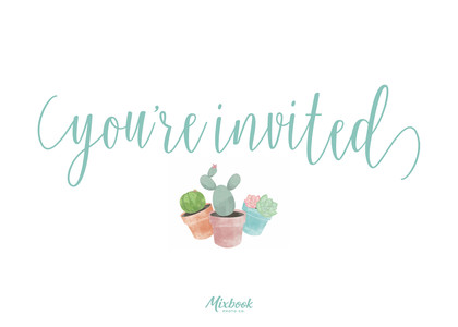 Succulent Invitation