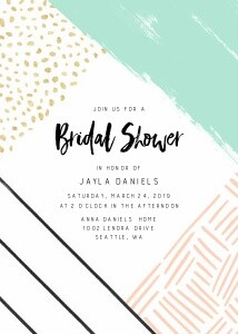 Modern Bridal Party Invite