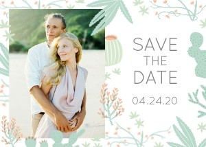 Cactus Save the Date by Hello!Lucky